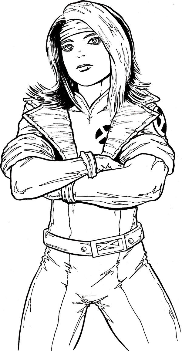 rogue x men coloring pages - photo#22