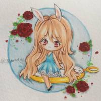 :AT: Alice in Wonderland Rabbit by Merindity