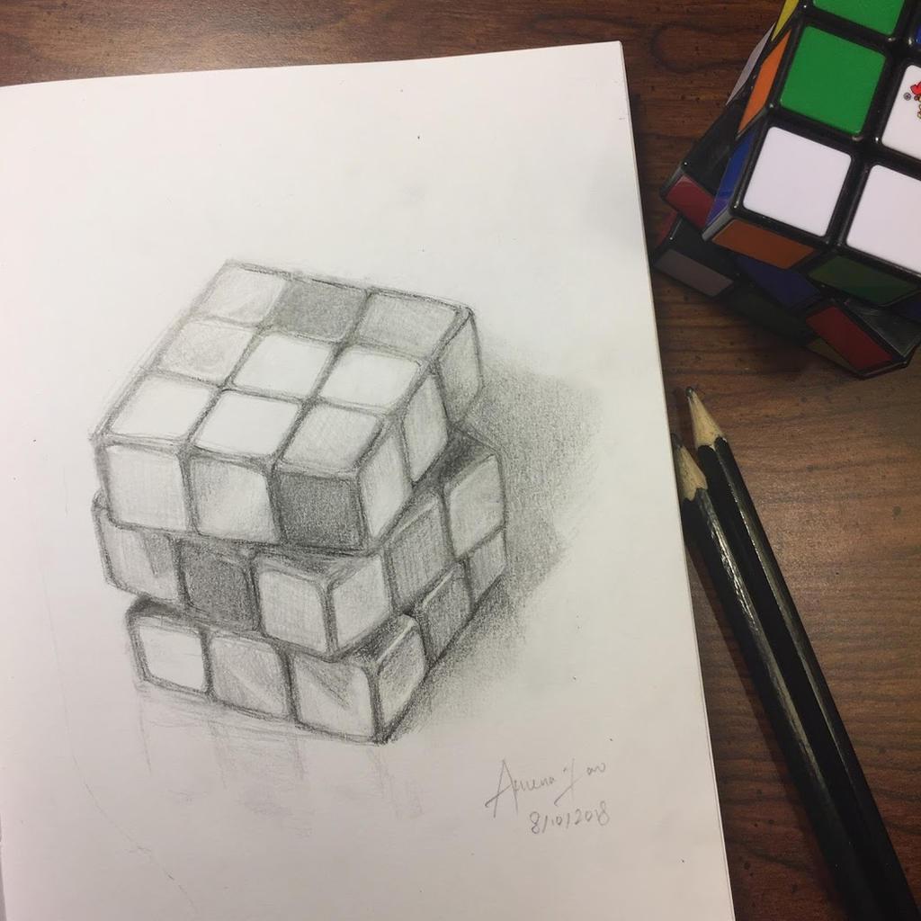 Rubik's Cube by Merindity