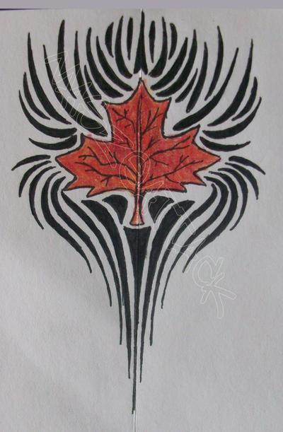 maple leaf tribal tattoo by maszeattack on deviantart. Black Bedroom Furniture Sets. Home Design Ideas