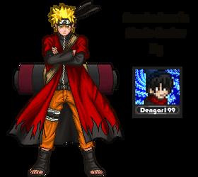 Naruto Sennin Mode By Dengar199 by dengar199