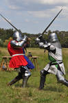 Medieval Knights fighting1