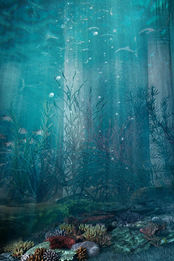Premade Bg Under The Sea 1 By Georgina Gibson On Deviantart