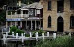 Vintage old buildings by the waters