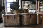 Old vintage baskets Luggage and nets