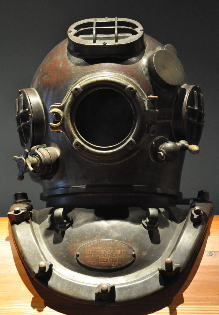 Old diving mask helmet 2 by Georgina-Gibson