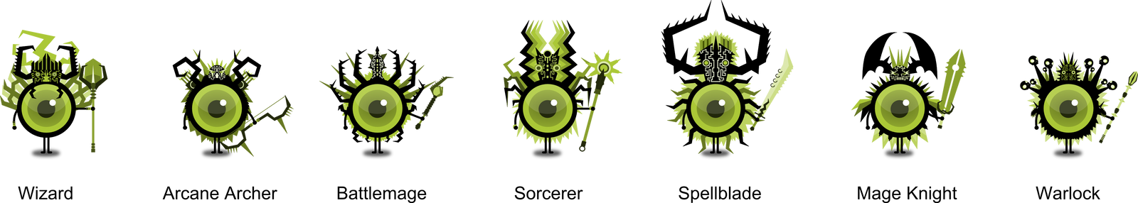 Eyeball Class Set 3 by NightBladeN