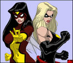 Spider-Woman and Ms. Marvel