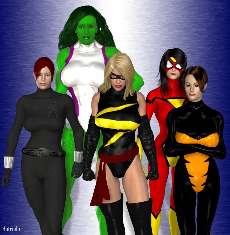 Female Avengers by hotrod5 on DeviantArt