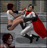 Poison vs Soviet Superwoman by hotrod5