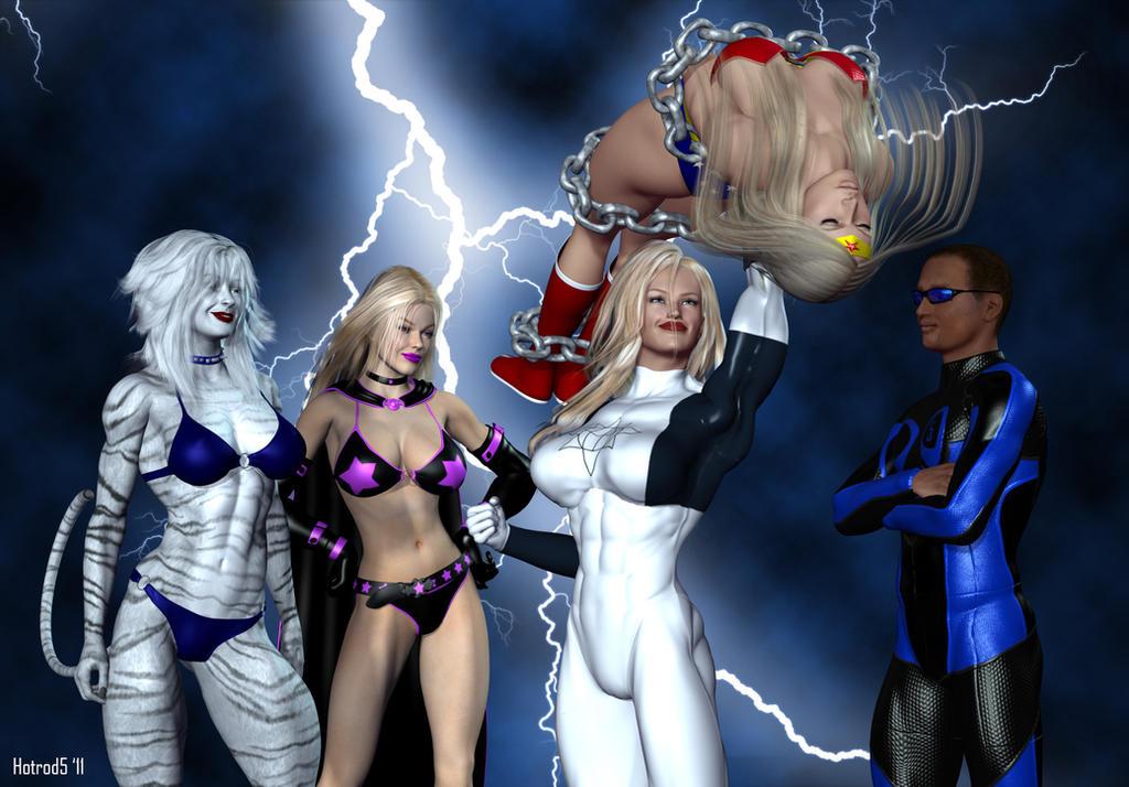 superheroines defeated by villains
