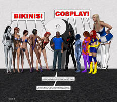 500K: Bikinis or Cosplay?