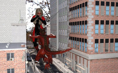 Skyscraper vs Giantess Demon