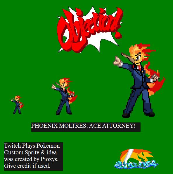Twitch Plays Pokemon Fanart Phoenixmoltres Sprite By Pioxys On Deviantart