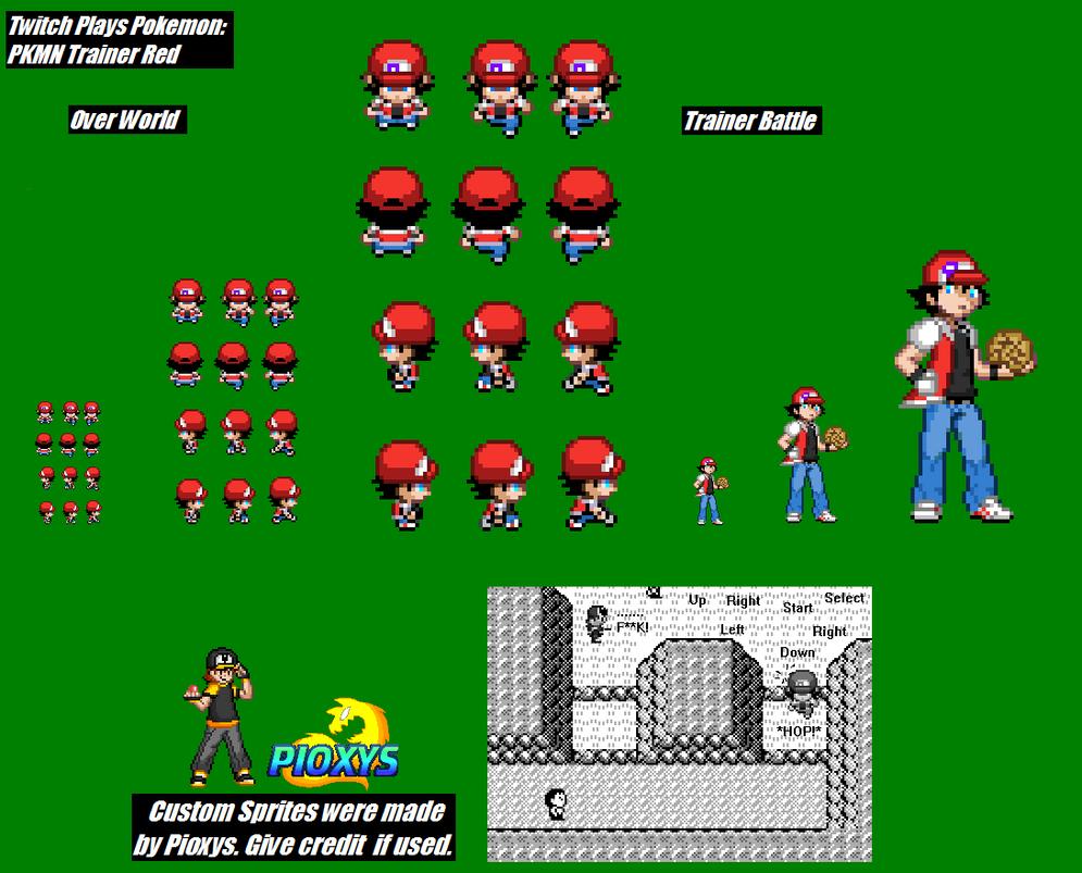ImageSpace - Pokemon Trainer Red Overworld Sprite | gmispace com