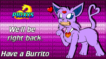 Be Right Back Wallpaper- Burrito by Pioxys