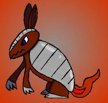 Charmordillo, the Armadillo Pokemon 005 by Gominod