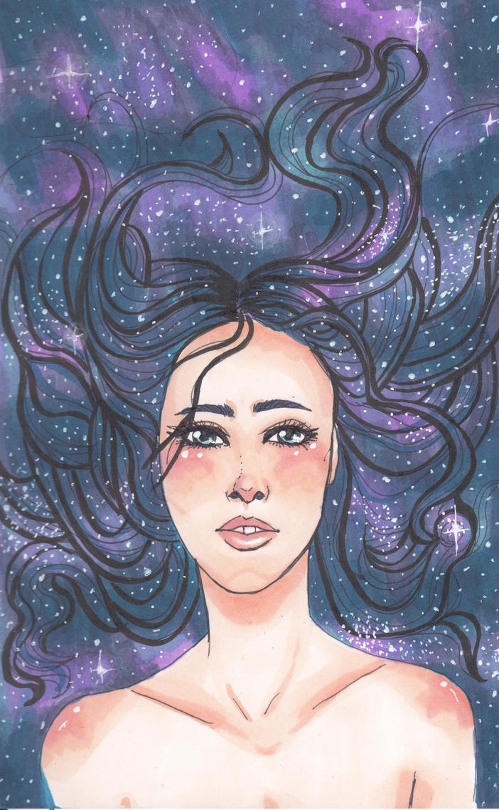 Galaxy Hair by NicholeMariee