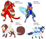 Fakemon Solar and lunar legendary pokemon
