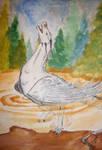 Swan Dragon by reizezdewickid