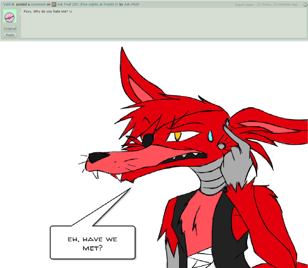 Have we met ask foxy the pirate by ask fnaf on deviantart