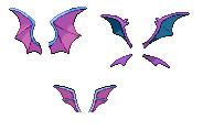 Zubat Evolutions Wings Spriting Stock by Darkachi