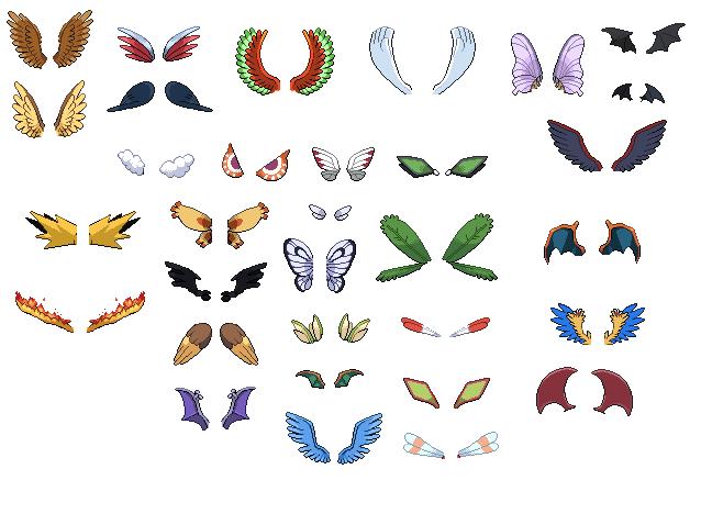 Resultado de imagem para Pokemon wings sprites