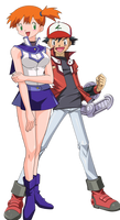 Misty as Alexis Rhodes and Ash as Jaden Yuki