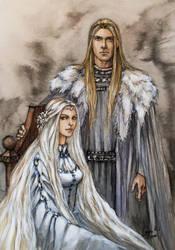 royal couple by LiigaKlavina