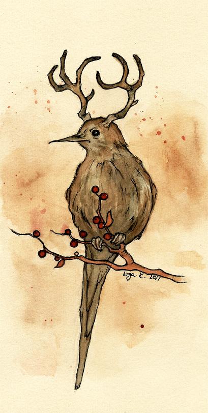 the mysterious deerbird by liga-marta