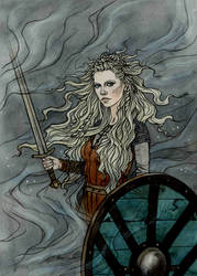 The shield maiden.