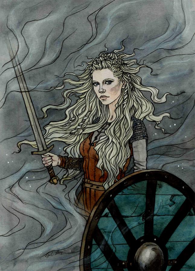 The shield maiden. by liga-marta