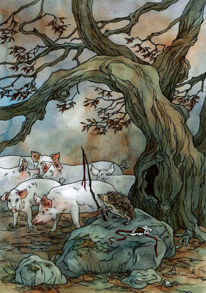 Illustration for Latvian fairytale. by LiigaKlavina