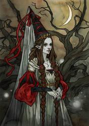 Lady Of The Faerie folk by LiigaKlavina