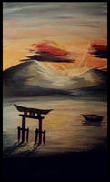 miyajima sunset by BellaEnd