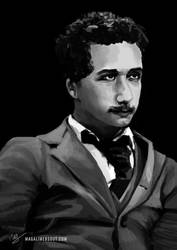 Albert Einstein by Magali-Mebsout