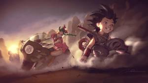 Goku and Bulma Anime 4KHD Wallpaper