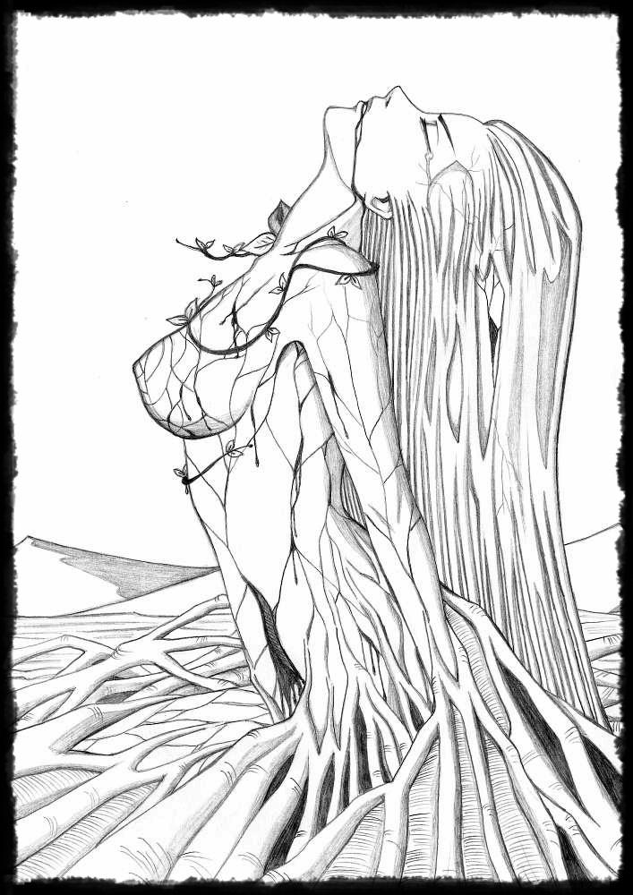 Line Drawing Nature : Mother nature by kanonakadominik on deviantart