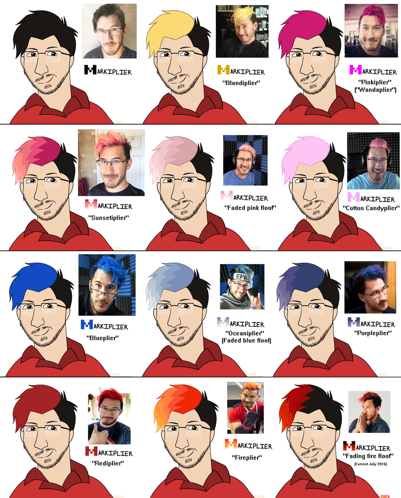 Markiplier Hair Dye Evolution By Ravenslpash26 On Deviantart