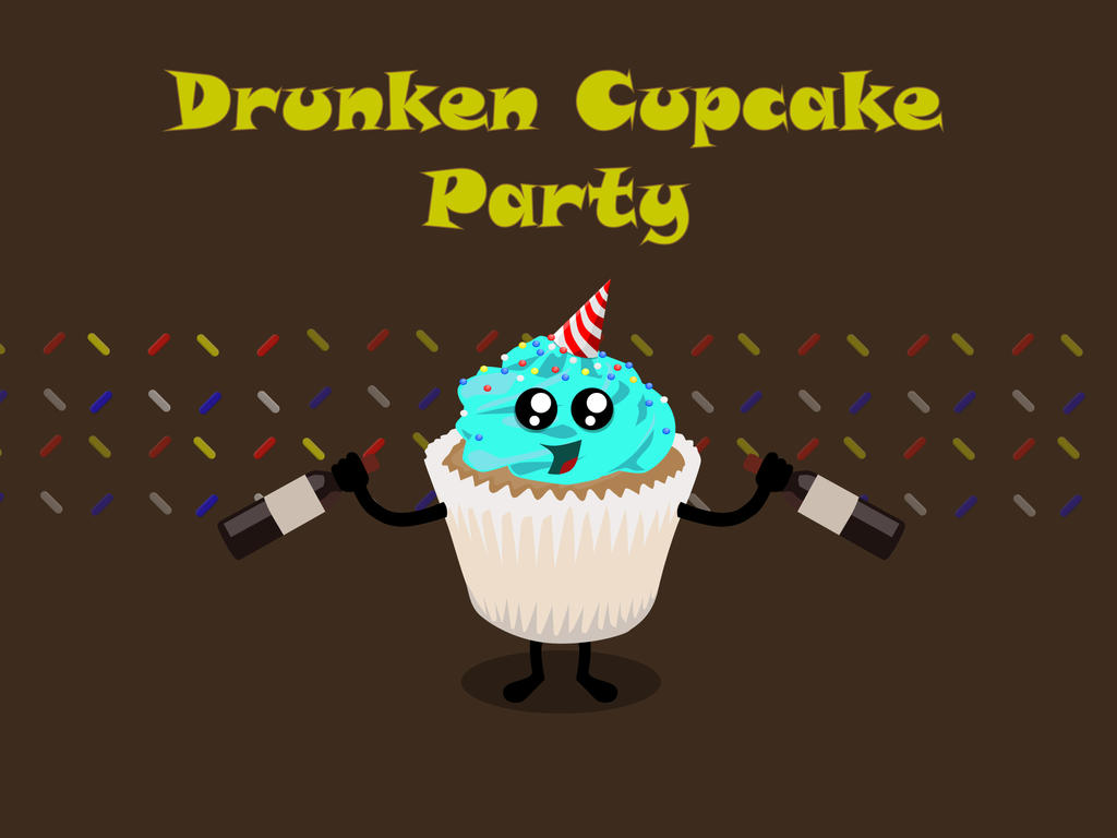 Drunken Cupcake Party Invite Design by LegendaryDesignz on DeviantArt