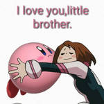 Urakara hugs Kirby