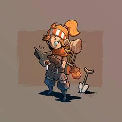 Adventurer #1 - Classic Delver by inkopath
