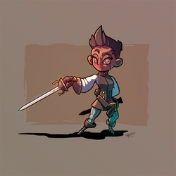 Adventurer #2 - Fency Fencer by inkopath