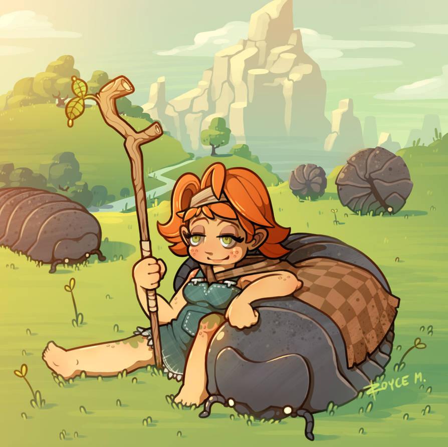 Giant Pillbug Herder Girl