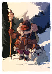 Winter Sentinel by inkopath