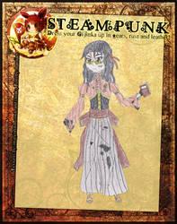 Tsubomi Yukimoto Steampunk Meme by VulpixTheLoner