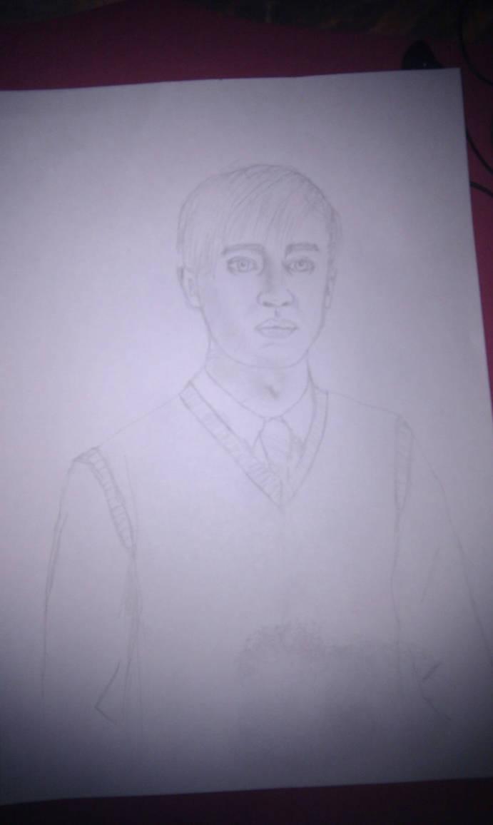 Draco Malfoy drawing [W.I.P] by TheBlackestBane