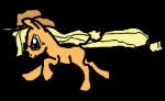 Applejack Running by GoldenScar