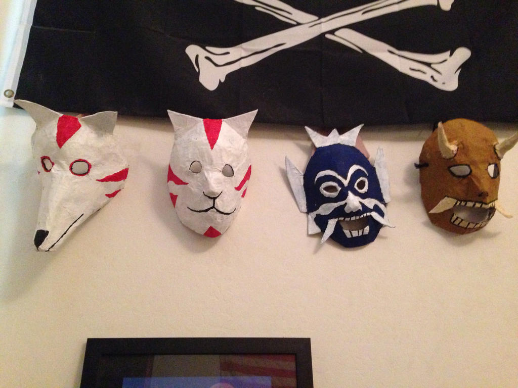 Anime Masks by madmanmike1995