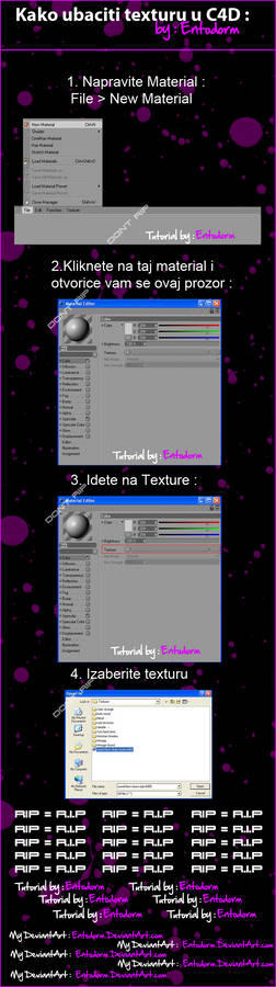 How to put texture in C4D